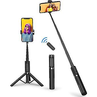 Bluetooth Selfie Stick Stativ, Mini Erweiterbar 3 in 1 Selfie Stange aus Aluminium mit Kabelloser