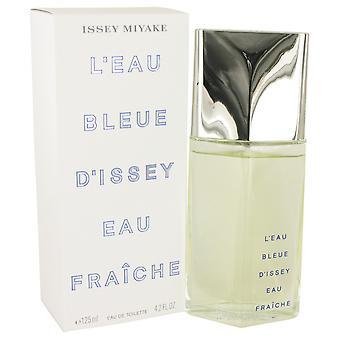 L'EAU BLEUE D'ISSEY POUR HOMME av Issey Miyake Eau De Fraiche Toilette Spray 4 oz