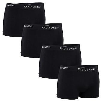 Fabio Farini 4-pack Seamless men's microfiber boxer shorts