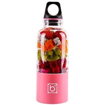Mini Portable Electric Fruit Juicer Blender, Usb Rechargeable Smoothie Maker