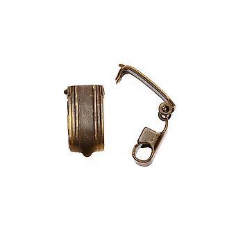 Vintaj spännen, Hopfällbart armband 13x6.5mm, 2 stycken, Naturlig Mässing