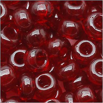 Czech Seed Beads 6/0 Translucent Garnet Red (1 Ounce)