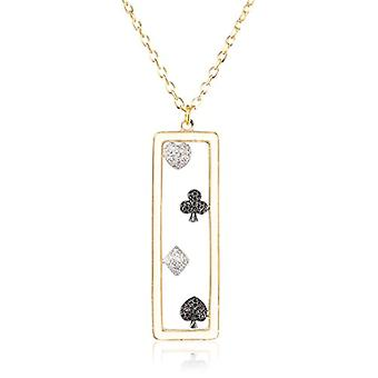 MISIS Women's Necklace Pokerface Silver 925 Colored Zircons 56 cm - CA07361