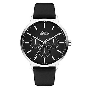 s.Oliver Women's Analog Quartz Watch with Fake Leather Strap SO-4165-LM