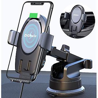 FengChun Caricatore Wireless Auto,Ricarica Rapida Caricabatterie Qi Wireless Auto,Supporta Auto da