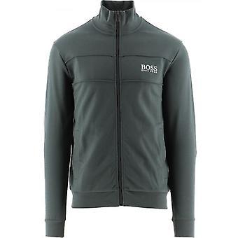 BOSS Tmavě zelená lehká bunda na zip