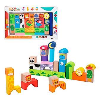 Building Blocks Game Color Baby animals (32 pcs)