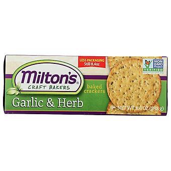 Miltons Cracker Gourmet Grlc Herb, Case of 8 X 8.4 Oz