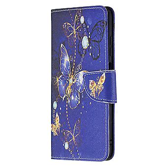 Samsung Galaxy A03s Case Pattern Magnetic Protective Cover Purple Butterfly