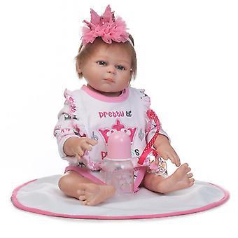 20Inch puha szilikon teljes test kézzel készített élethű baba baba legjobb karácsonyi ajándék szilikon bebes újjászületett babák fürdő játék ikrek