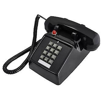 25T Retro telefon kovový podstavce Starožitný telefon klasický starý styl pevné linky telefon