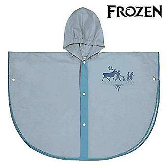 Waterproof Poncho with Hood Frozen Light Blue
