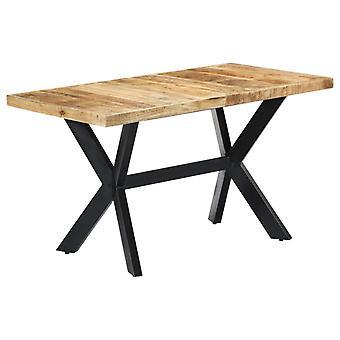 vidaXL طاولة الطعام 140 × 70 × 75 سم الصلبة الخام خشب المانجو