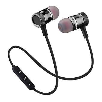 Langaton bluetooth-kuuloke urheilukäynnissä magneettinen linja ohjaus binaural stereot korvassa roikkuva kaula matkapuhelin yleinen vastaaminen