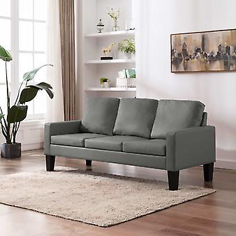 vidaXL 3-Sitzer-Sofa Grau Kunstleder