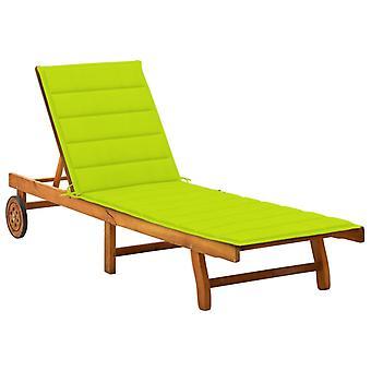כיסא נוח vidaXL עם תמיכה בעץ מלא שיטה