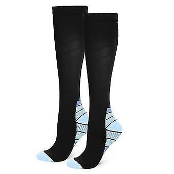 Sokker udendørs sport kører lange strømper ben kompression stretch strømper atletisk fodbold fodbold fodbold sokker