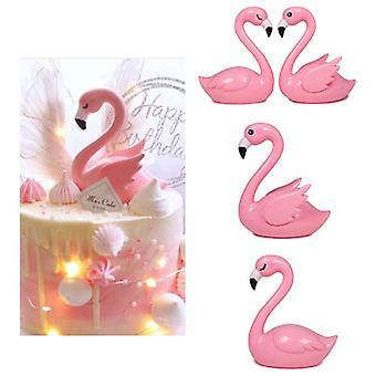 Flamingo Kake Dekorasjoner Kake Topper For Bursdagsfest Nydelige Gaver