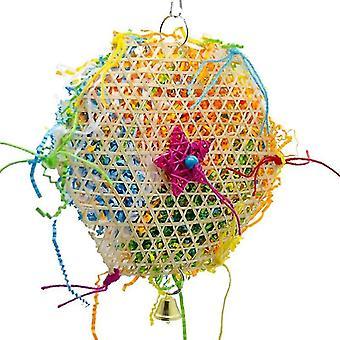 Bird climbing net parrot toy(Black)
