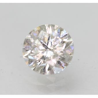 Sertifioitu 0,83 karat F SI1 pyöreä brilliant parannettu luonnollinen löysä timantti 5,99mm