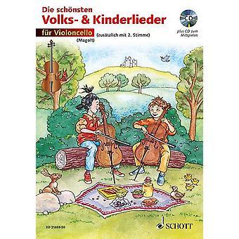 Die schönsten Volks- und Kinderlieder 1-2 cellos edition with CD