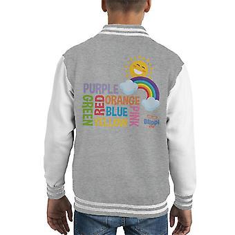 Blippi Colours Of The Rainbow Kid's Varsity Jacket