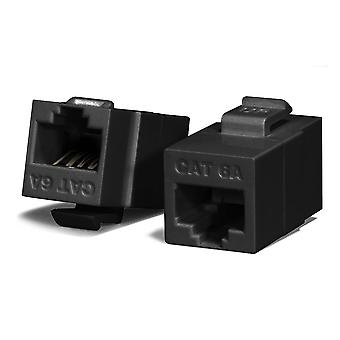Serveredge Universal Cat6A Utp Rj45 Modular Keystone Coupler Black
