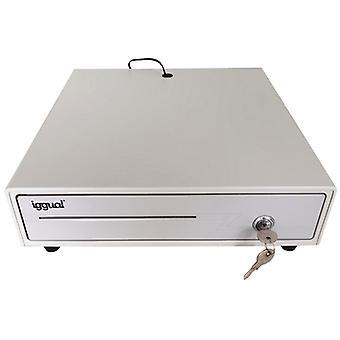 درج تسجيل النقدية iggual IRON-1W IGG315316 41 سم أبيض