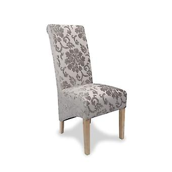 Gina Oak Rollback Upholstered Chair - And - Fully Assembled