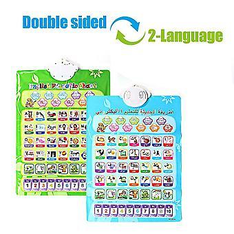 Leanring Sound Wall Chart Elektronische Doppelseite Zweisprachige Phonetische Karte Pädagogisches Spielzeug