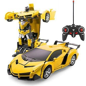 2 Em 1 rc elétrica transformação de carros robôs crianças meninos brinquedos esportes de controle remoto ao ar livre
