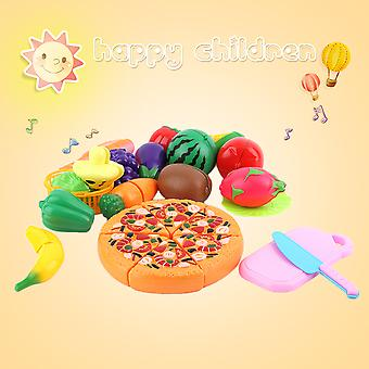 24 PCs/セット早期開発の子供たちは遊ぶフルーツピザ食品のおもちゃをふり