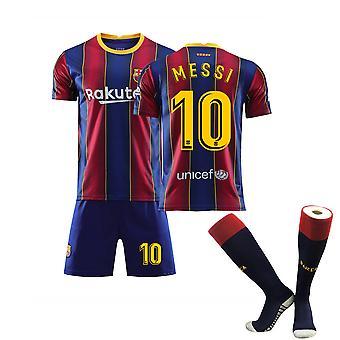 Messi #10 Otthon 2020/2021 Új szezon férfi Barcelona Labdarúgás 2021 Home Jersey póló szett