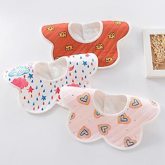 3pcs Baby Bibs Bibs Bio Coton Absorbant Bave, petit Canard Jaune