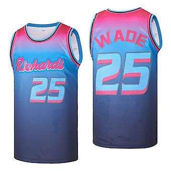 Mens Basketball Jersey 25# Dwayne Wade High Space Movie Jersey 90s Hip Hop Clothing For Party S-xxl
