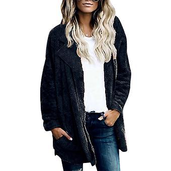 Teddy Bear Coat Women Winter Warm Fleece Jacket Cardigan Outwear Top