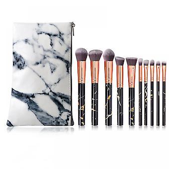 10pcs Makeup Brush Set Portable Face Makeup Brush Beauty Tool Makeup Brush(pink)