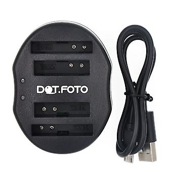 Dot.Foto Canon NB - 4L Dual USB cargador de batería