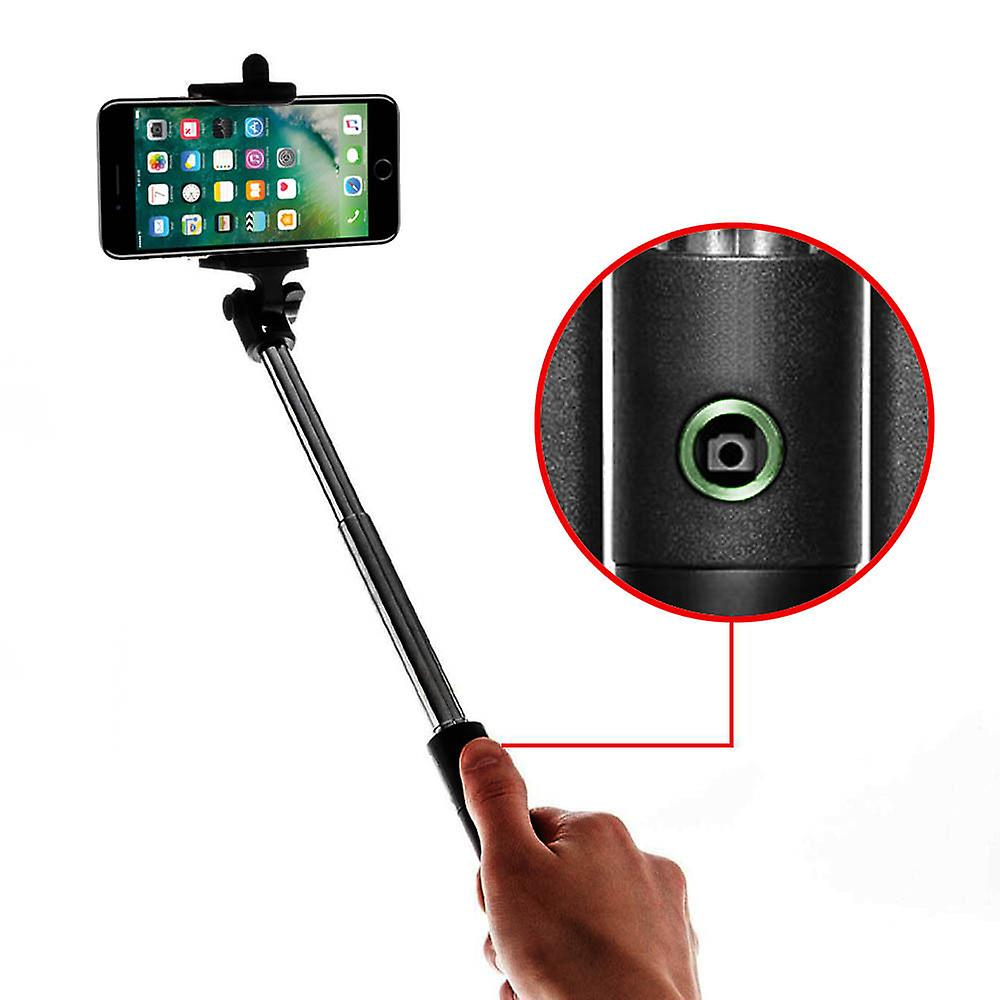 iTronixs - Bluetooth Selfie Sticks for Prestigio Grace Z5 with Built-in Remote Shutter - Green