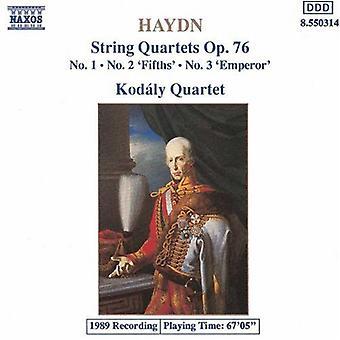 J. Haydn - Haydn: String Quartets Op. 76, Nos. 1-3 [CD] USA import