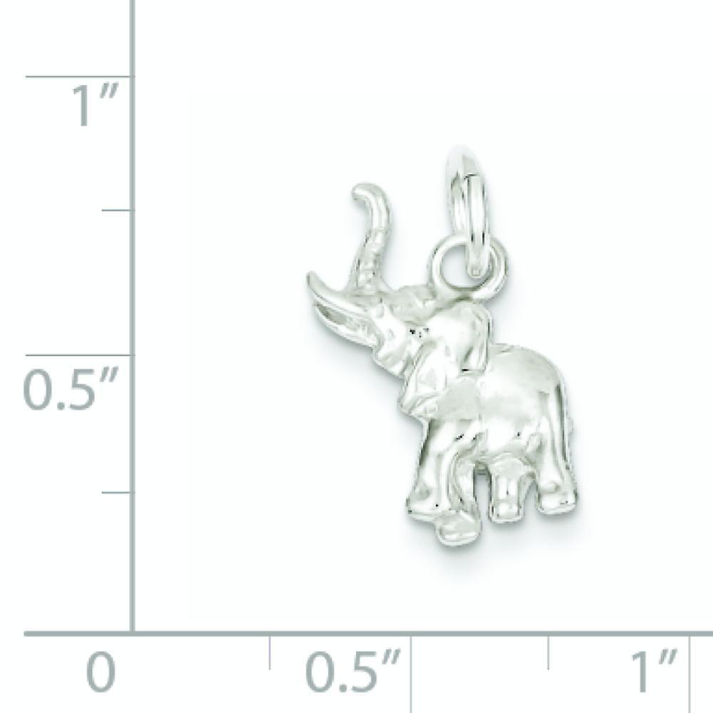 925 Sterling Silber solid poliert Elefant Anhänger Anhänger Halskette Schmuck Geschenke für Frauen
