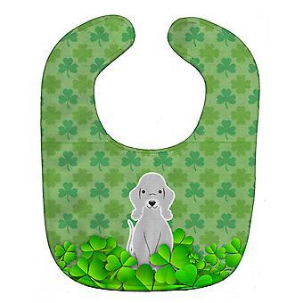 كارولين الكنوز BB6231BIB الكلب بيدلينجتون أوراق الشجر الأزرق بيبي المريلة