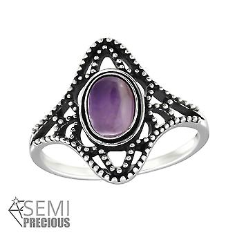 Oval - 925 Sterling Silver Jewelled Rings - W32328X