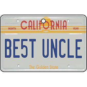 California - beste onkel lisens Plate bil Air Freshener