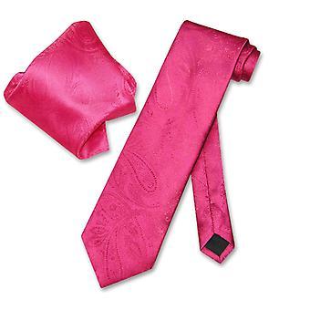 Vesuvio Napoli PAISLEY cravatta & fazzoletto corrispondente Tie Set