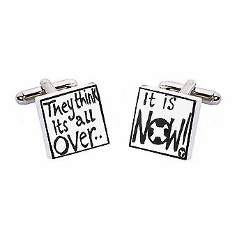They Think Its All Over Cufflinks by Sonia Spencer, in Presentation Gift Box. Football, World Cup