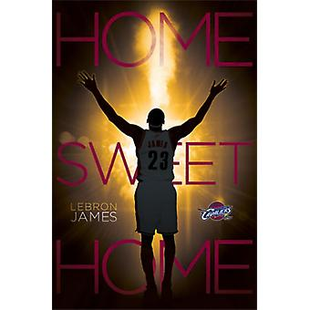 Cleveland Cavaliers - Lebron James - Home Sweet Home 2014 Poster Print