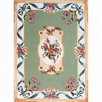 Período georgiano Carpet diseño bordado lienzo