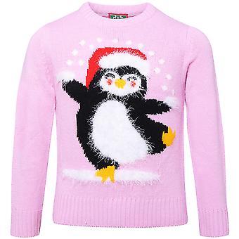 Vianočný obchod Detské/deti rias priadze Penguin vianočný sveter