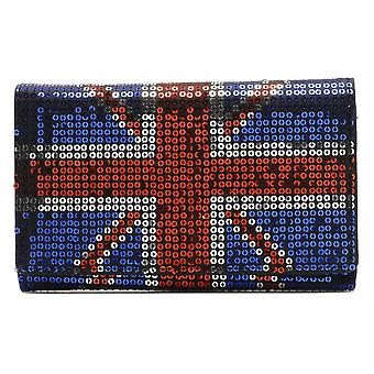 Iron Fist Navy/Red Sequined Union Jacked Medium Wallet